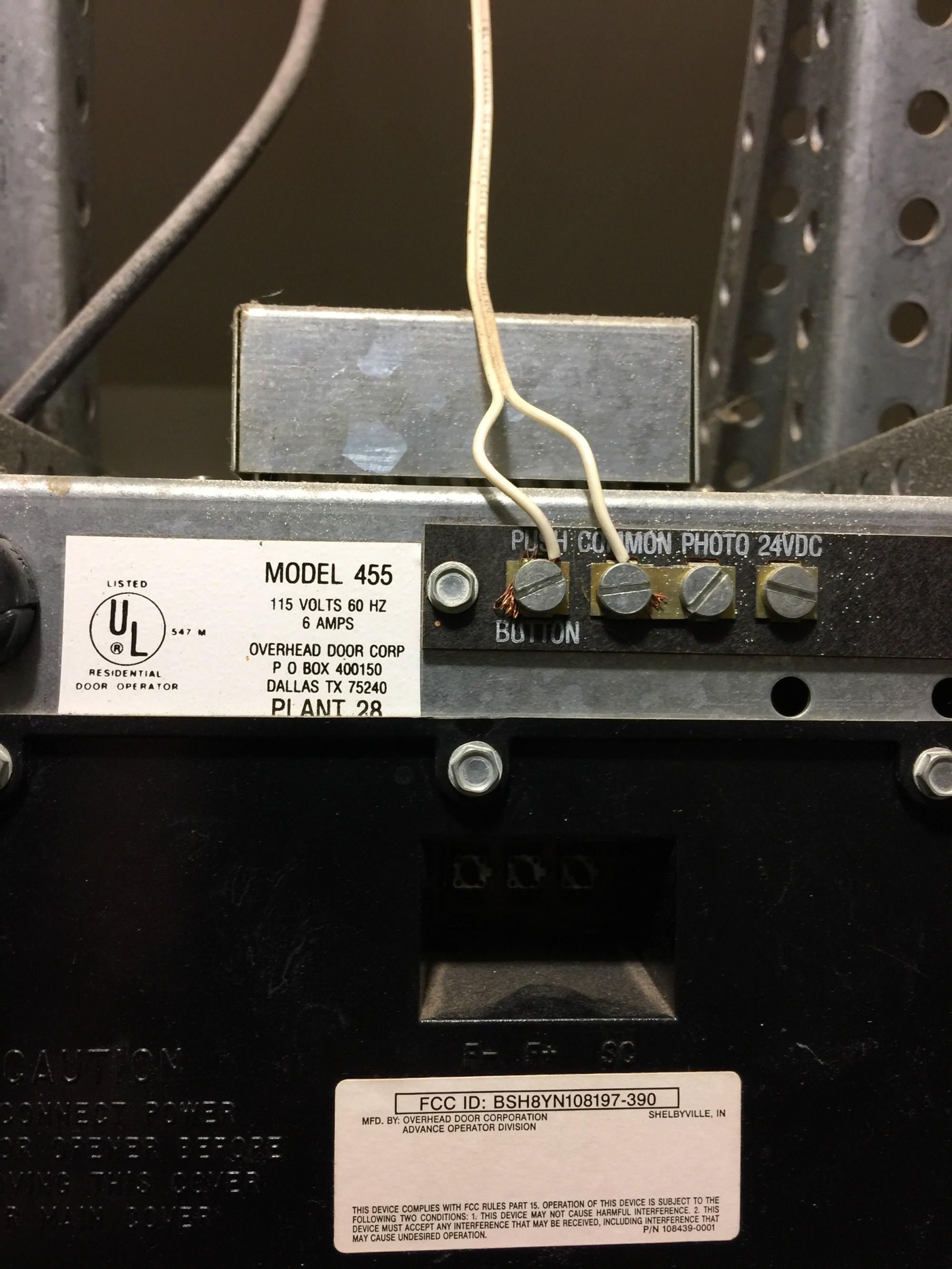 hight resolution of i have a overhead door corp model 455 opener