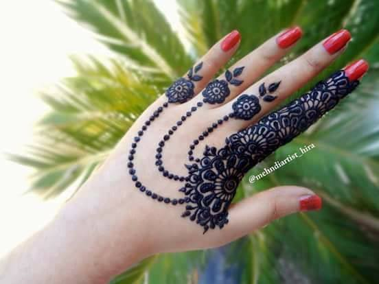 Easy Simple Jewellery Ornamental Henna Mehndi Designs for Hands  Craft Community