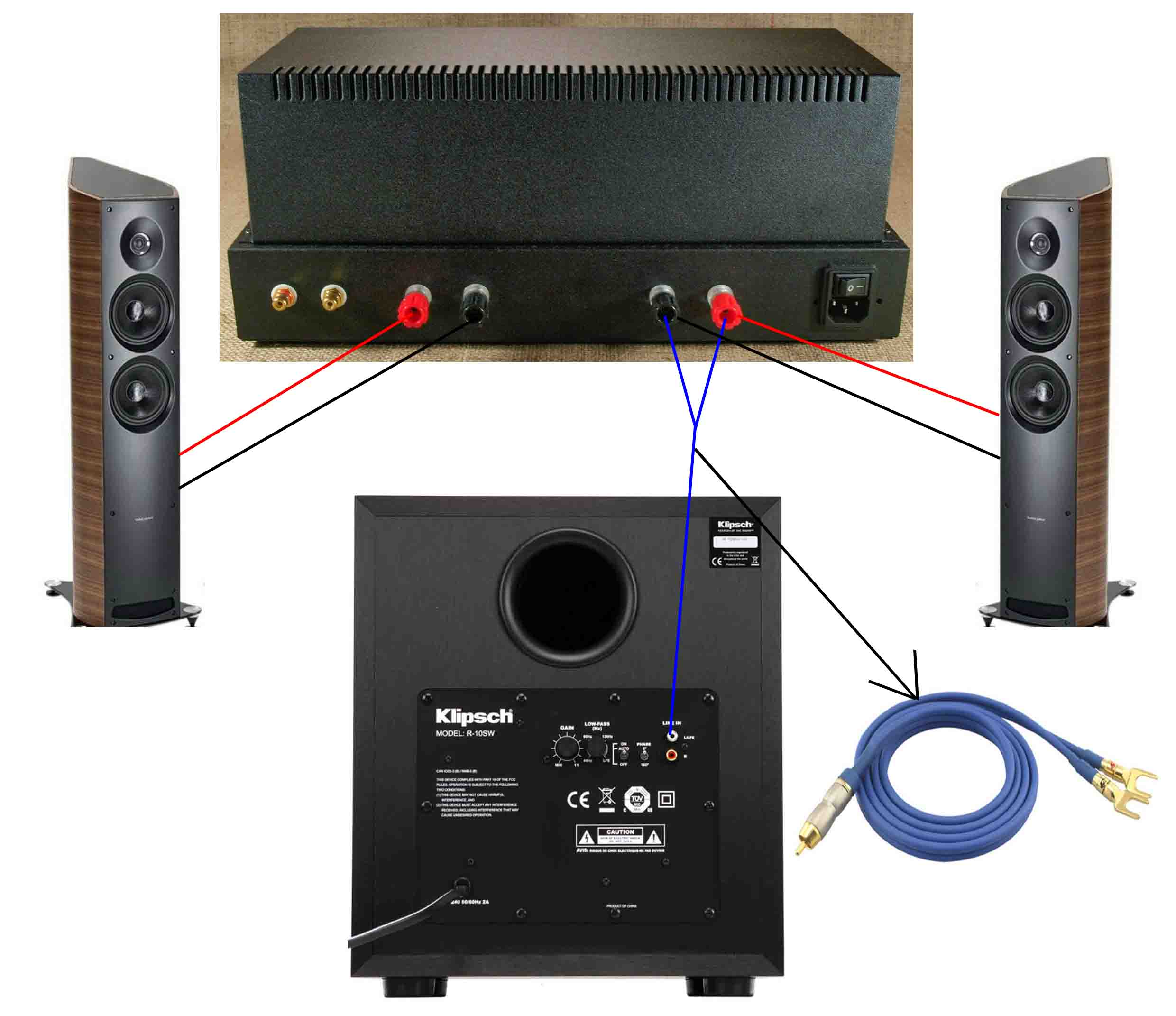Klipsch Subwoofer Wiring Diagram Stereo To Subwoofer Amp Connection Subwoofers The