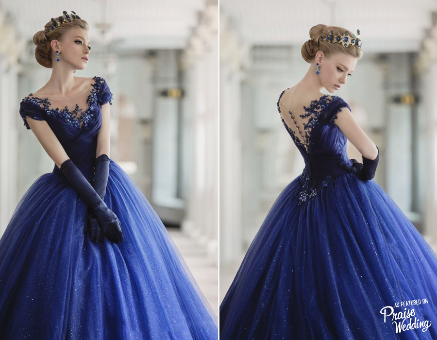 This Royal Blue Bridal Gown Is Downright Droolworthy