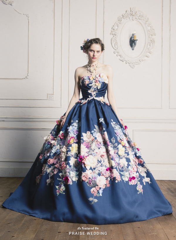 This Royal Blue Gown From Yumi Katsura Featuring