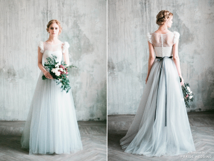 Milamira Bridal Introduces This Light Grey Wedding Dress