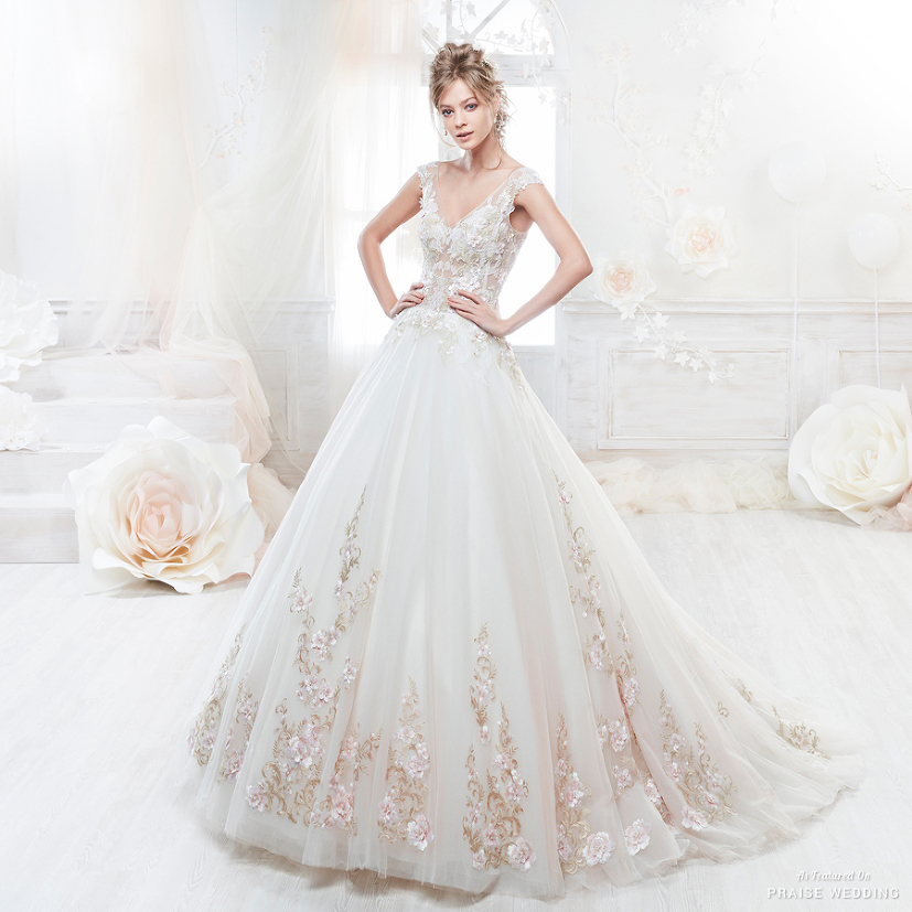 This gorgeous wedding dress from Colet featuring delicate