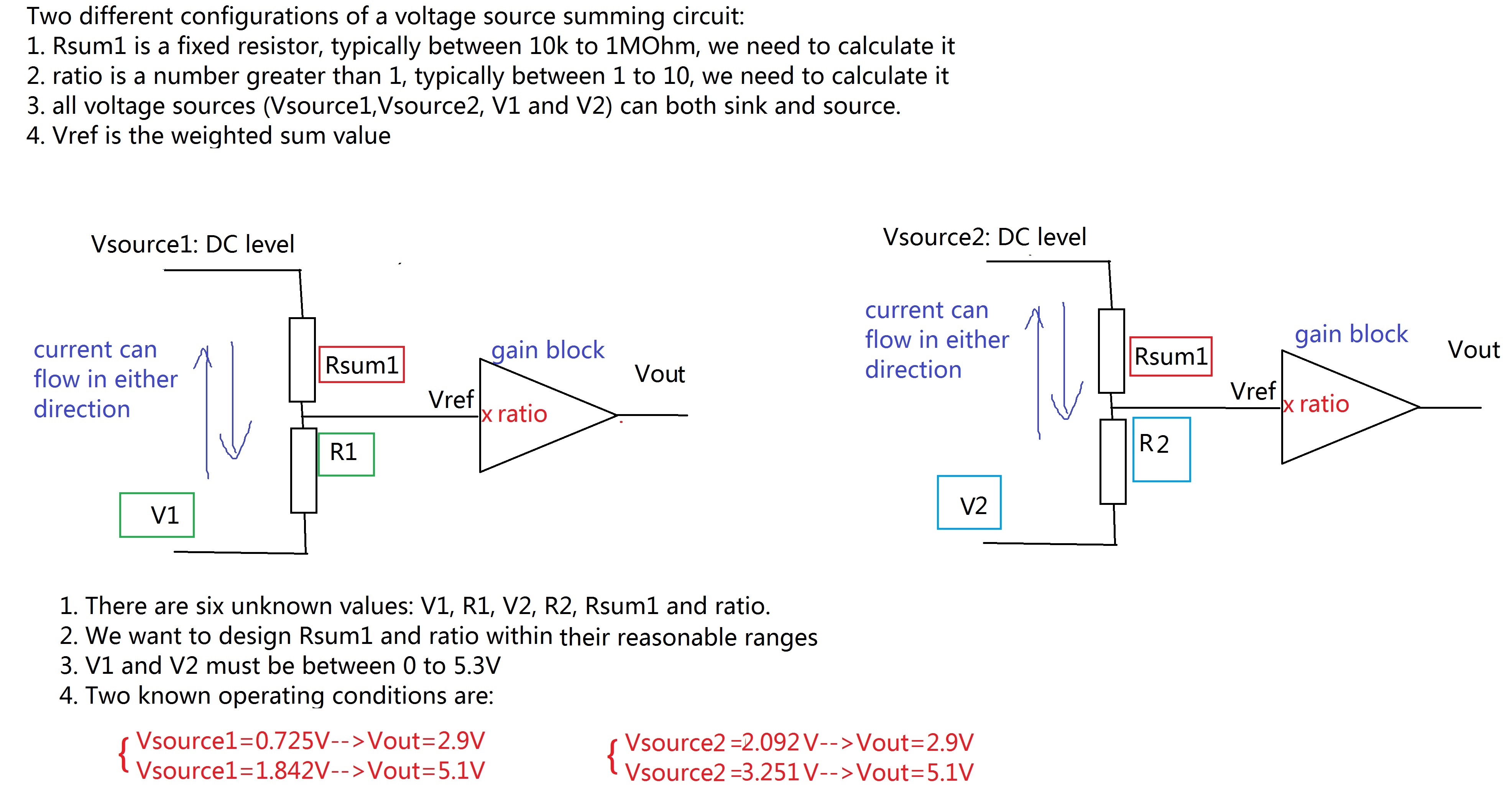 how to solve circuit diagrams 1993 ford f150 xl radio wiring diagram solved this simple voltage summing u ptc my target v1 v2 are within 0 5 3v and 10 ratio 1 all resistors should be between 10k 1m ohm right now i am not able use if