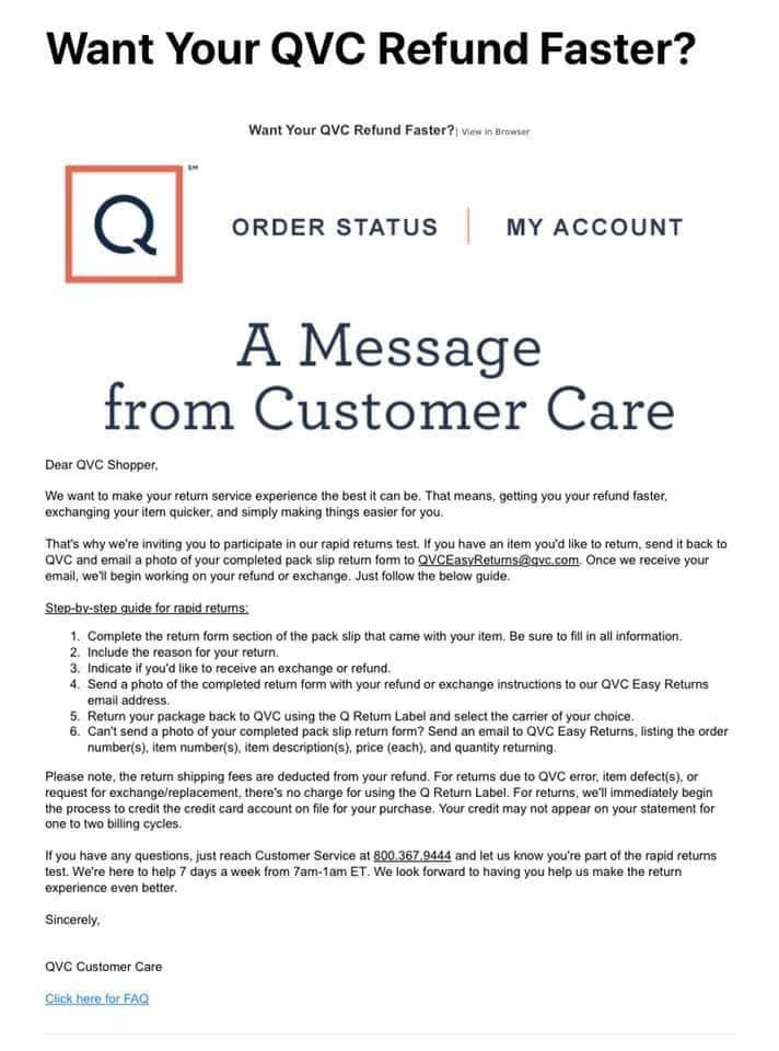 Qvc Return Label : return, label, Service.....QVC, RETURNS?, Blogs, Forums