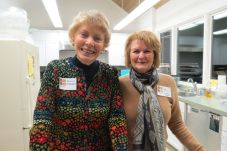 Jeanne McRoberts of Sherman and Hedy Kinney of Kent