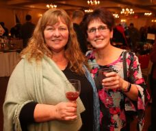 SOCIAL MOMENTS: Litchfield Montessori School wine-tastingLITCHFIELD, CT - 1 March 2020 - 030120JM12 - Tracy Dupont, left, and Laura Bertrand, both of Plymouth. John McKenna Photo