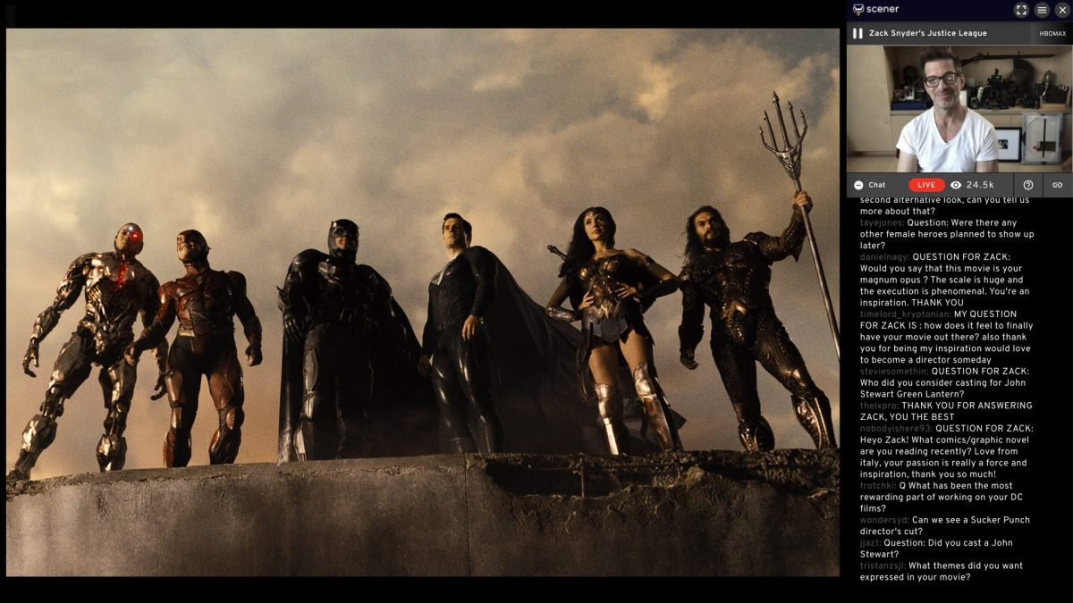 zack snyder justice league watch party