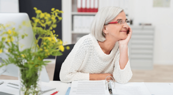 woman in her 60s preparing for retirement