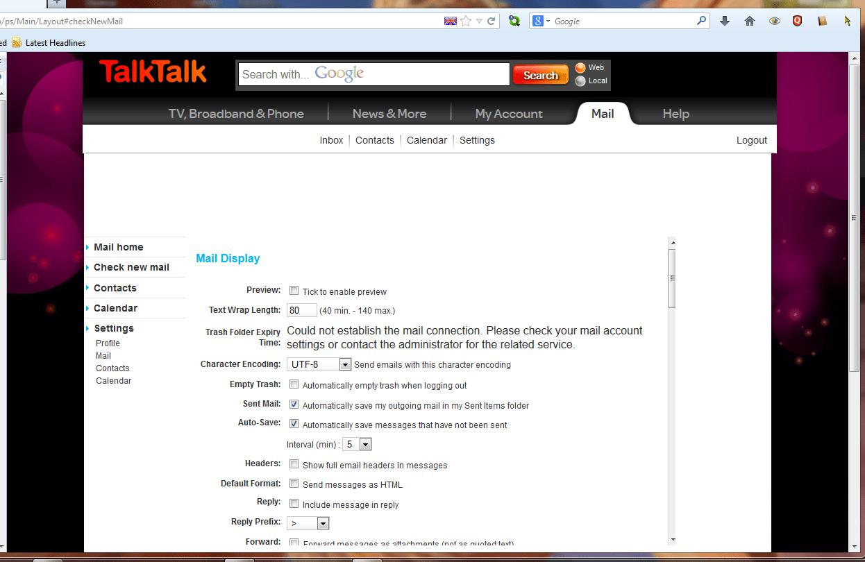 can u help webmail email tiscali address c  TalkTalk