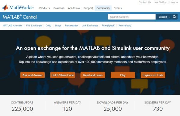 MATLAB Central - ThingSpeak Community