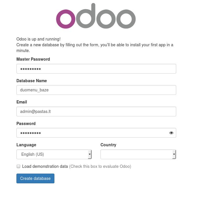 Odoo installation in CentOS 7