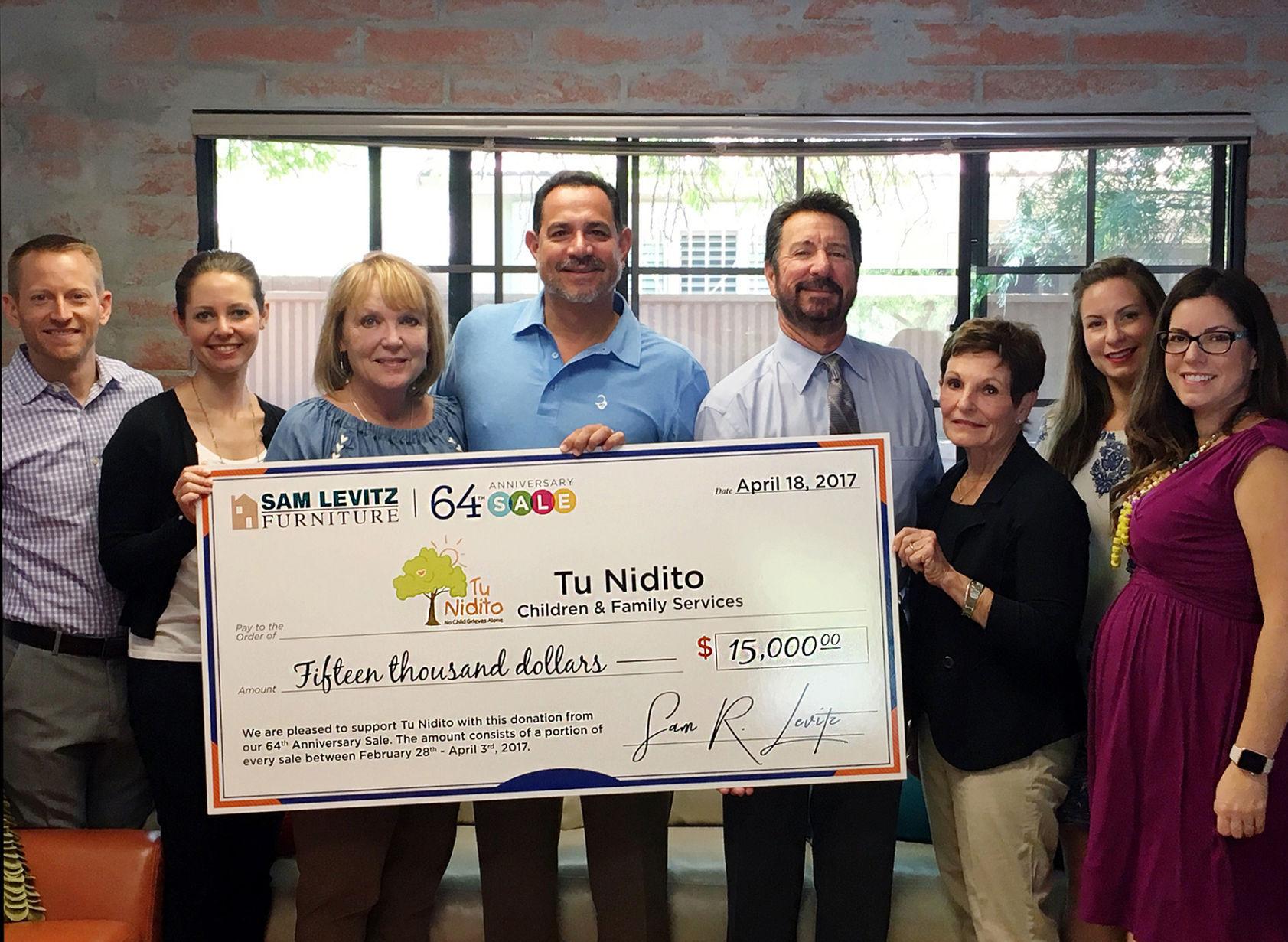 Sam Levitz Furniture Donates To Tu Nidito Tucson Com Arizona