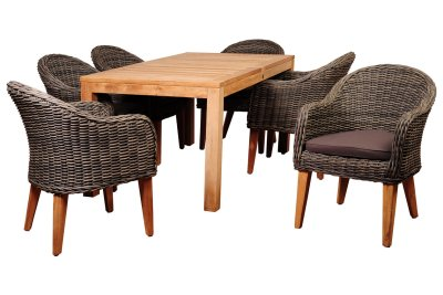 Amazonia 7 Piece Teak Rectangular Dining Set