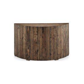 Rustic Pine Wood Round Sofa Table
