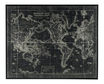 Urbanology Map Wall Art - Black and White