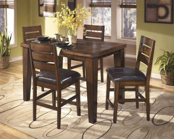 Vintage Casual Extendable Counter Height Table - Burnished Dark Brown
