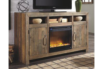 Sommerford 62 inch TV Stand with Electric Fireplace
