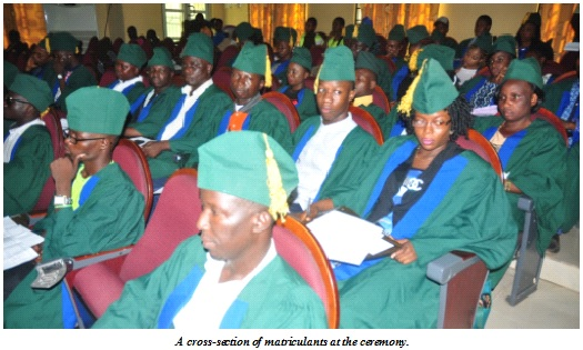 FUNAAB Matriculates Part-Time Degree Students