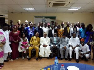 A group photograph of Guests, Executives and members of FUNAAB Alumni, Abuja Branch after the 20th Anniversary