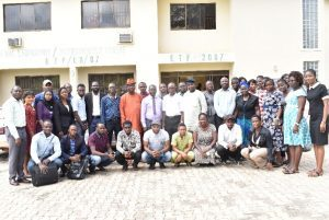 Group photograph of Top Officials of the University, Resource Persons and Scholars at the Training