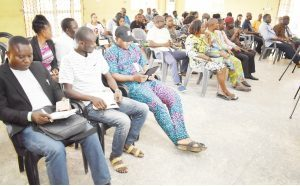 A cross-section of Journalists during the Courtesy Visit