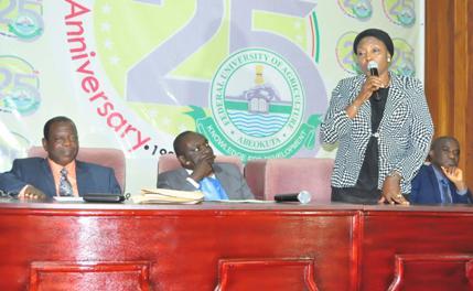 The immediate past President, ANAN, Hajia Maryam Ladi Ibrahim, addressing delegates.