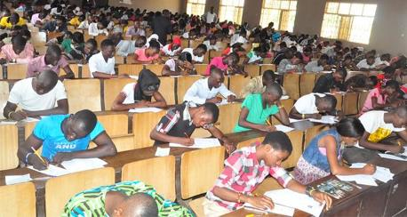 Cross-section of candidates writing the examination