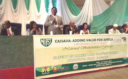 The Vice-Chancellor, Prof. Olusola Oyewole, at the Conference with some Fellows of NIFST