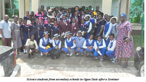 Science students from Ogun State after a Seminar