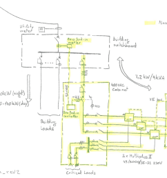 ac in terminals of the multiplus ii units would be connected to the bars of the main switchboard in the building by means of a 4 pole contactor among other  [ 1181 x 753 Pixel ]