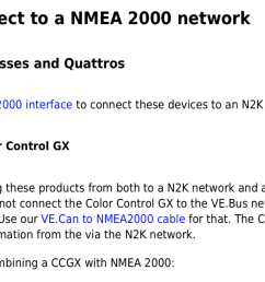the nmea 2000 mfd integration guide indicates that you can connect a venusos devices inverter chargers and bmv using the interface you with some  [ 1586 x 816 Pixel ]