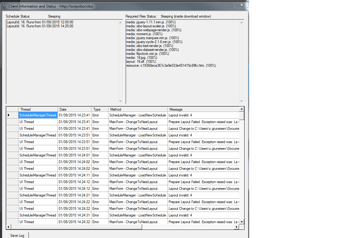 Problem with the client - Support - Xibo Community