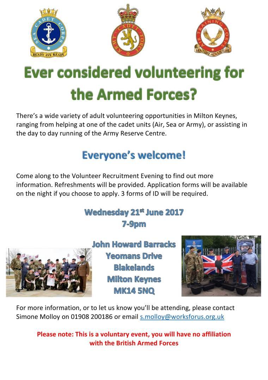 ACF recruitment evening poster