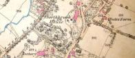 Section of ordnance survey map of Bishop's Waltham, 1870