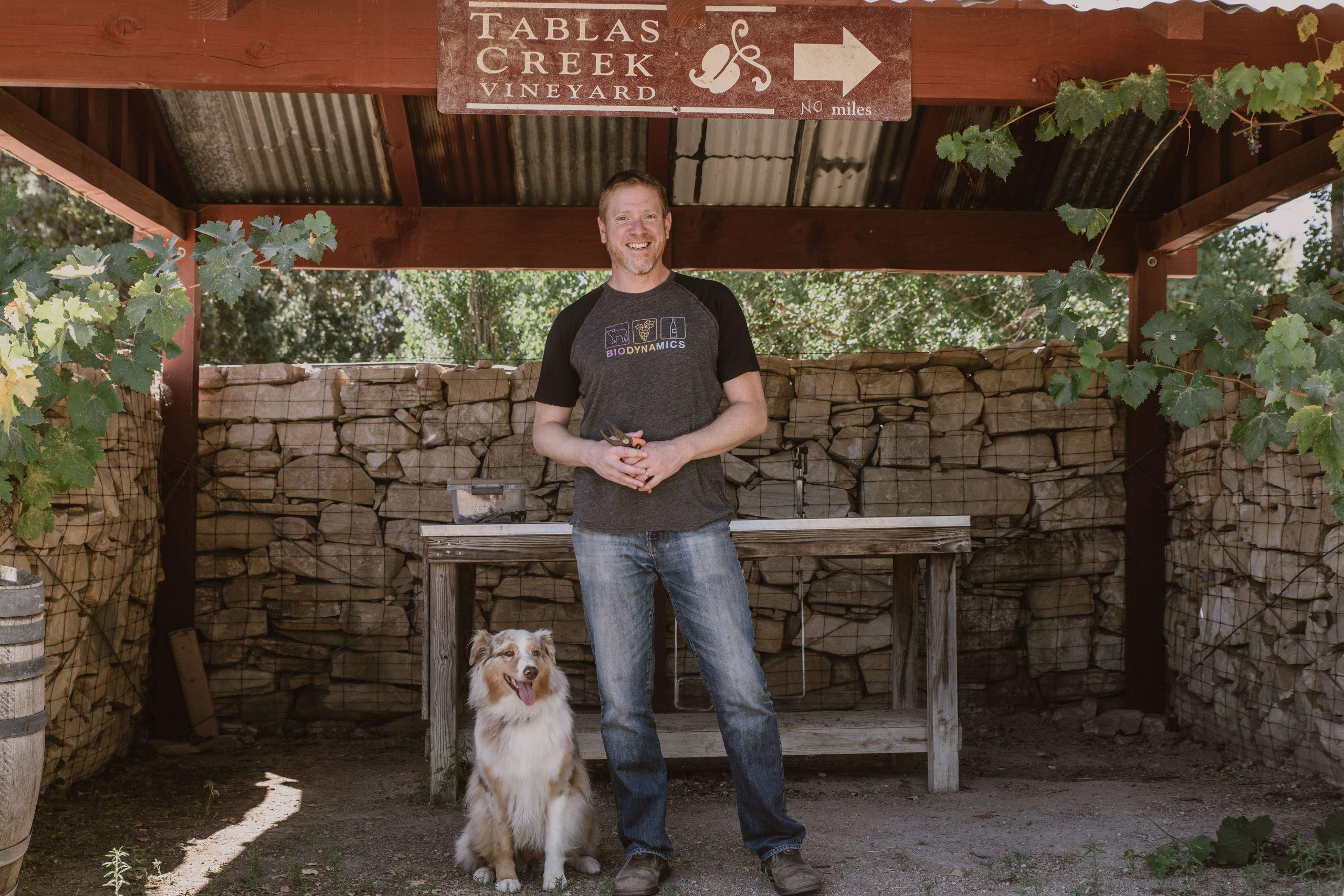 Tablas Creek Proprietor Jason Haas In Nursery With Sadie