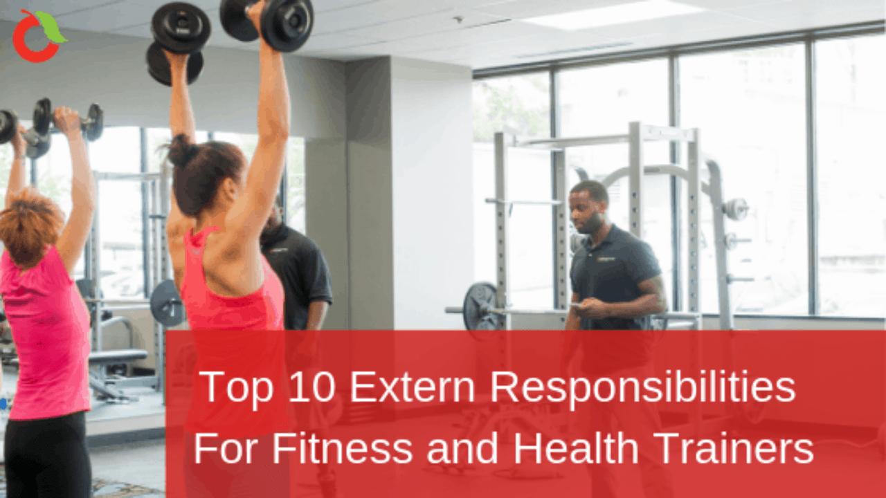 top 10 extern responsibilities