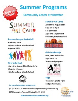 summer programs flyer
