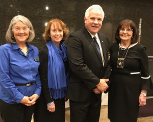 Francene and Mary pictured here with the President, John Ohrnberge