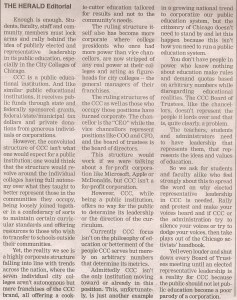 The Herald Oct 2015 Call to Action_Elected CCC