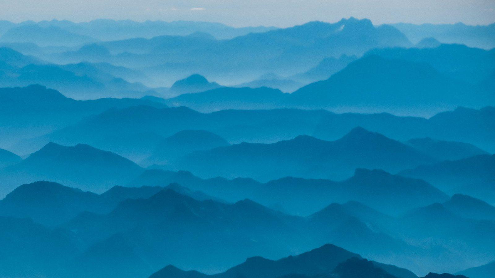 bird's eye view of mountain