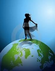 Woman on Planet