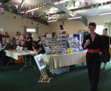 Photograph of a craft fair inside the hall at Goathland Community Hub and Sports Pavilion