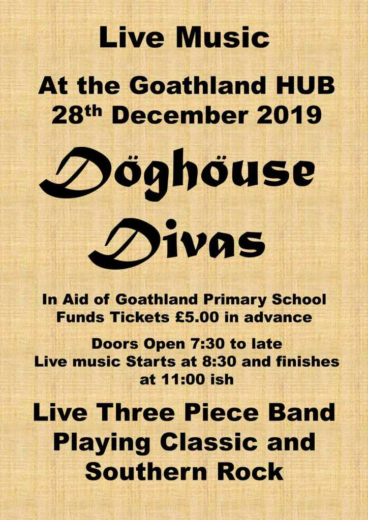 Doghouse Divas poster for an event at the Goathland Hub