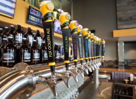 Flix Brewhouse brews a variety of original beers onsite.