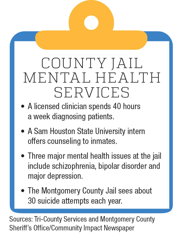 Mental health services at jail include medications ...