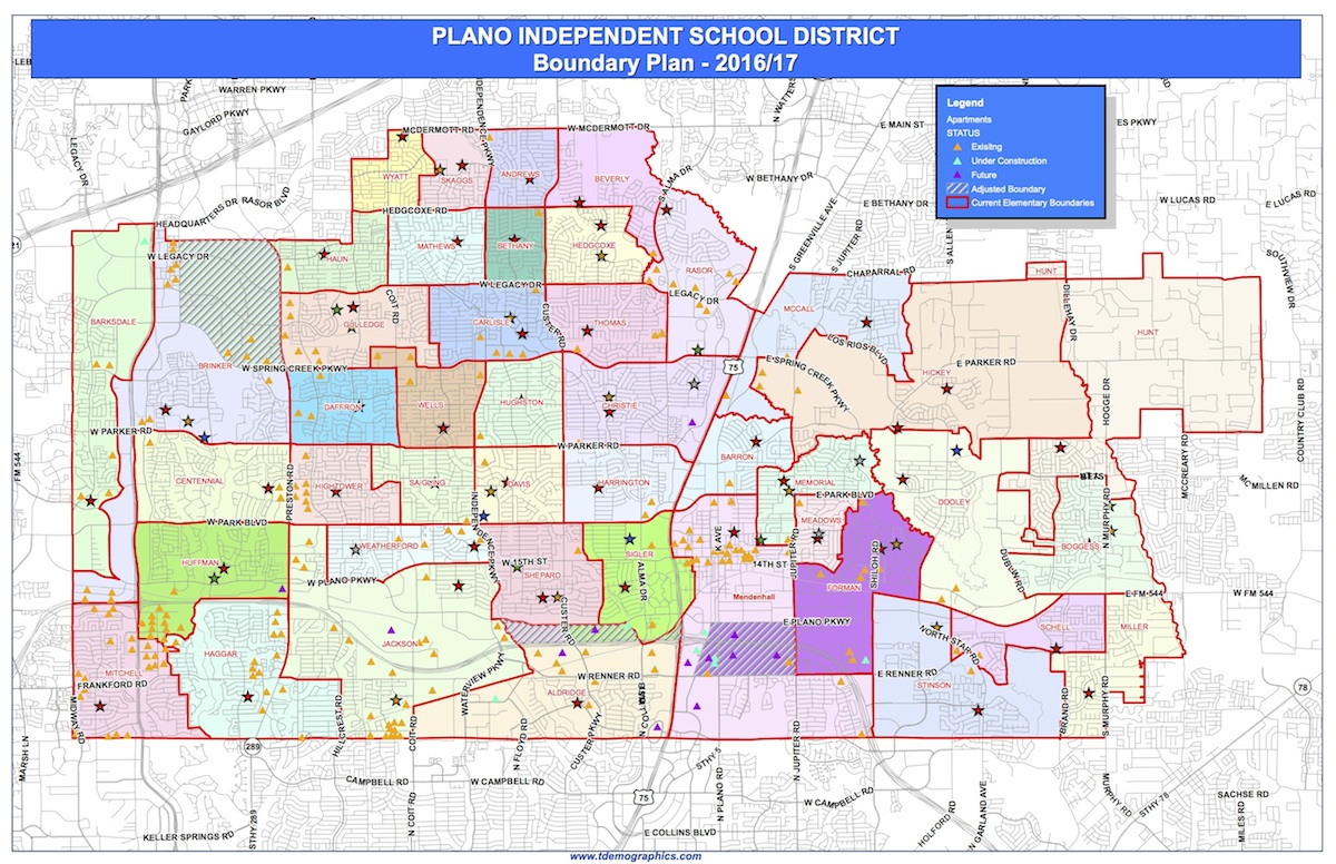Plano Isd Realigns Elementary School Boundaries