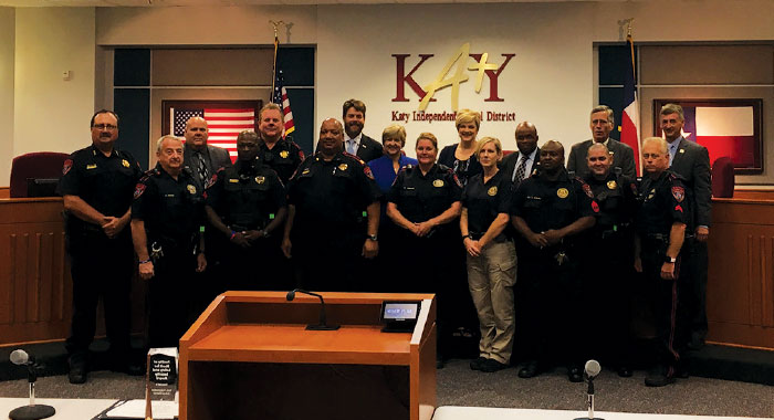 Katy ISD honored police personnel in the fall of 2016. In early 2019, a private investigator looked into claims of alleged corruption in the department but found no supporting evidence.