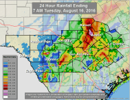 How is the rain impacting Central Texas lakes?