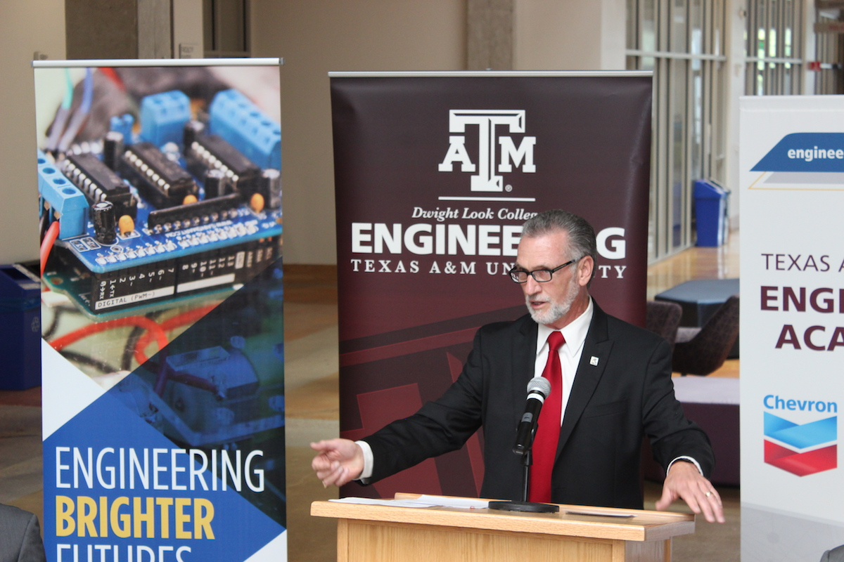 austin community college becomes one of schools accepted to austin community college president and ceo richard rhodes announces the partnership between texas a m and chevron